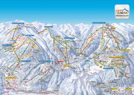 Panoramakarte Zillertal-Arena Zell am Ziller